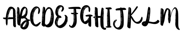 AusthinaBrushCalligraphyScratch Font UPPERCASE