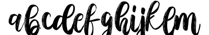 AusthinaBrushCalligraphyScratch Font LOWERCASE