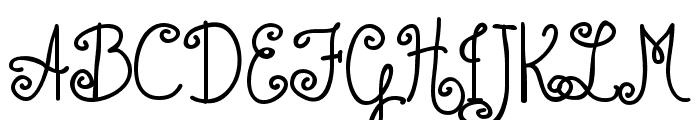 Austie Bost Bumblebee Font UPPERCASE
