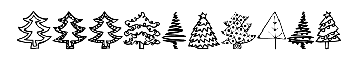 Austie Bost Christmas Doodles Font OTHER CHARS