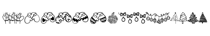 Austie Bost Christmas Doodles Font UPPERCASE