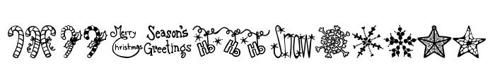 Austie Bost Christmas Doodles Font LOWERCASE