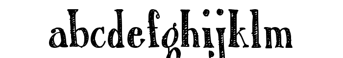 Austie Bost Roman Holiday Sketch Font LOWERCASE
