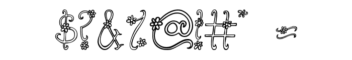 Austie Bost You Wear Flowers Hollow Font OTHER CHARS