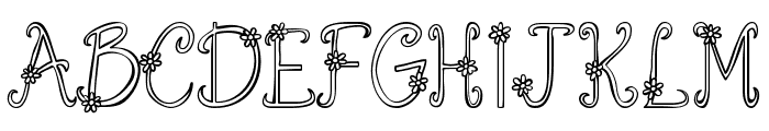 Austie Bost You Wear Flowers Hollow Font UPPERCASE
