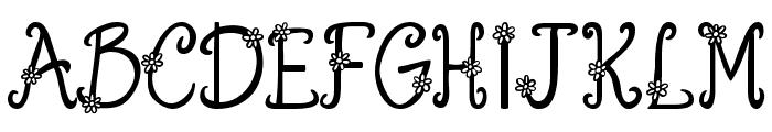 Austie Bost You Wear Flowers S Font UPPERCASE