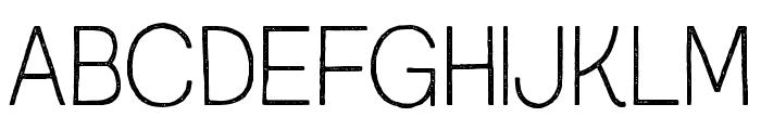 AustralSansStamp-Thin Font UPPERCASE