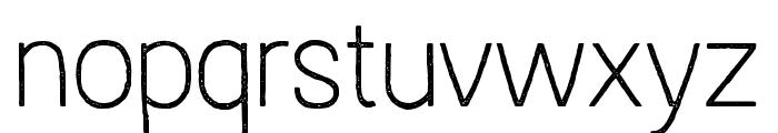 AustralSansStamp-Thin Font LOWERCASE