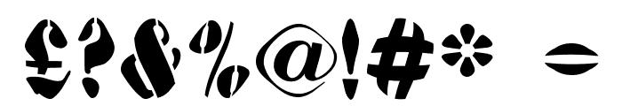 AustralianFlyingCorpsStencilA Font OTHER CHARS