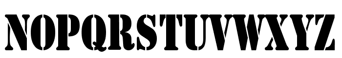 AustralianFlyingCorpsStencil Font UPPERCASE
