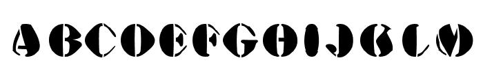 AustralianFlyingCorpsStencilA Font LOWERCASE