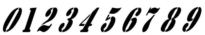 AustralianFlyingCorpsStencilB Font OTHER CHARS