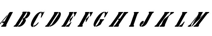 AustralianFlyingCorpsStencilB Font UPPERCASE