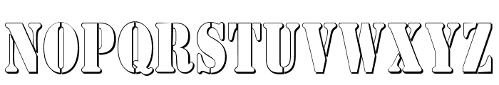 AustralianFlyingCorpsStencilC Font UPPERCASE
