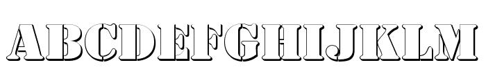 AustralianFlyingCorpsStencilC Font LOWERCASE