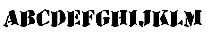 AustralianFlyingCorpsStencilD Font LOWERCASE