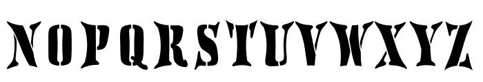 AustralianFlyingCorpsStencilH Font UPPERCASE
