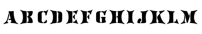 AustralianFlyingCorpsStencilH Font LOWERCASE