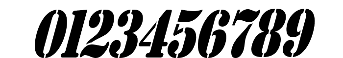 AustralianFlyingCorpsStencilS Font OTHER CHARS