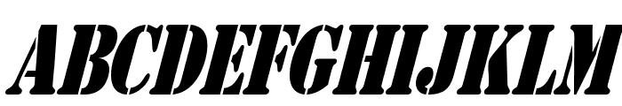 AustralianFlyingCorpsStencilS Font UPPERCASE