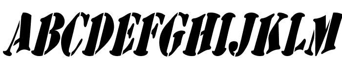 AustralianFlyingCorpsStencilSB Font UPPERCASE