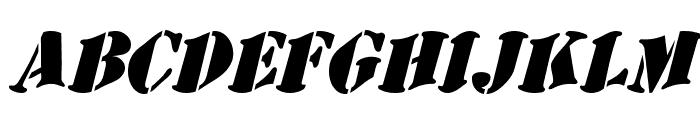AustralianFlyingCorpsStencilSB Font LOWERCASE
