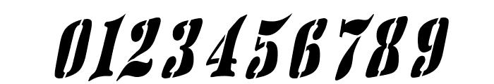 AustralianFlyingCorpsStencilSF Font OTHER CHARS