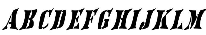 AustralianFlyingCorpsStencilSF Font UPPERCASE
