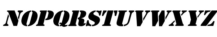 AustralianFlyingCorpsStencilS Font LOWERCASE