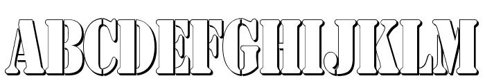 AustralianFlyingCorpsStencilSh Font UPPERCASE