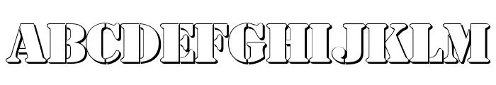 AustralianFlyingCorpsStencilSh Font LOWERCASE