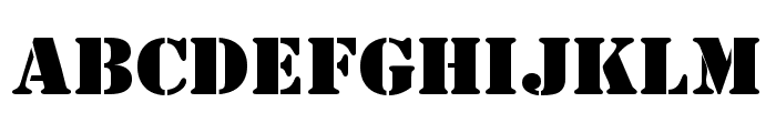 AustralianFlyingCorpsStencil Font LOWERCASE
