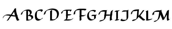 AuthorCalligraphyOpti-Regular Font UPPERCASE