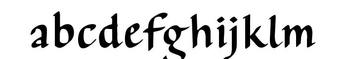 AuthorCalligraphyOpti-Regular Font LOWERCASE