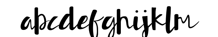 Authorfun Font LOWERCASE