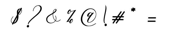 AutinesScript Font OTHER CHARS
