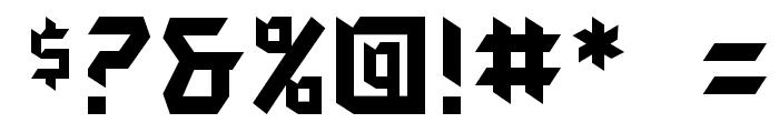 AutodestructBB Font OTHER CHARS