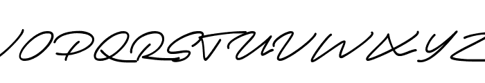 Autograf PERSONAL USE ONLY Font UPPERCASE