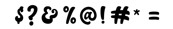 Autolova Font OTHER CHARS