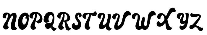 Autolova Font UPPERCASE