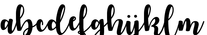 Autumn in November Font LOWERCASE