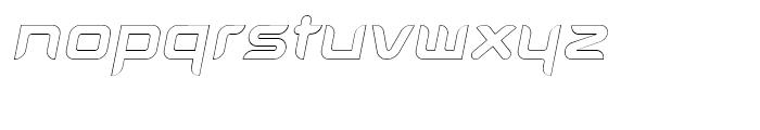Aura Outline Oblique Font LOWERCASE