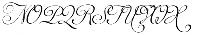 Auberge Script Basic Two Font UPPERCASE