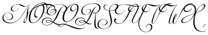 Auberge Script Mixed Caps Font UPPERCASE
