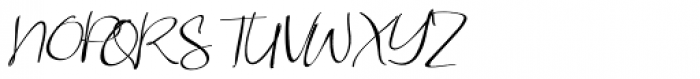 Aubrielle Italic Font UPPERCASE