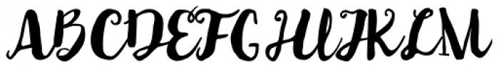 Auburn Font UPPERCASE