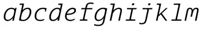 Aubusson Light Italic Font LOWERCASE