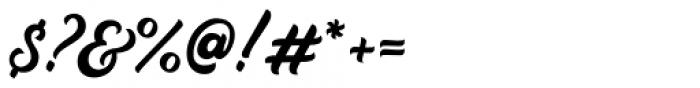 Auckland Script Regular Font OTHER CHARS