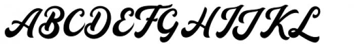 Auckland Script Regular Font UPPERCASE