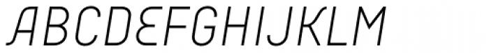 Audimat 3000 Leger Italique Font UPPERCASE